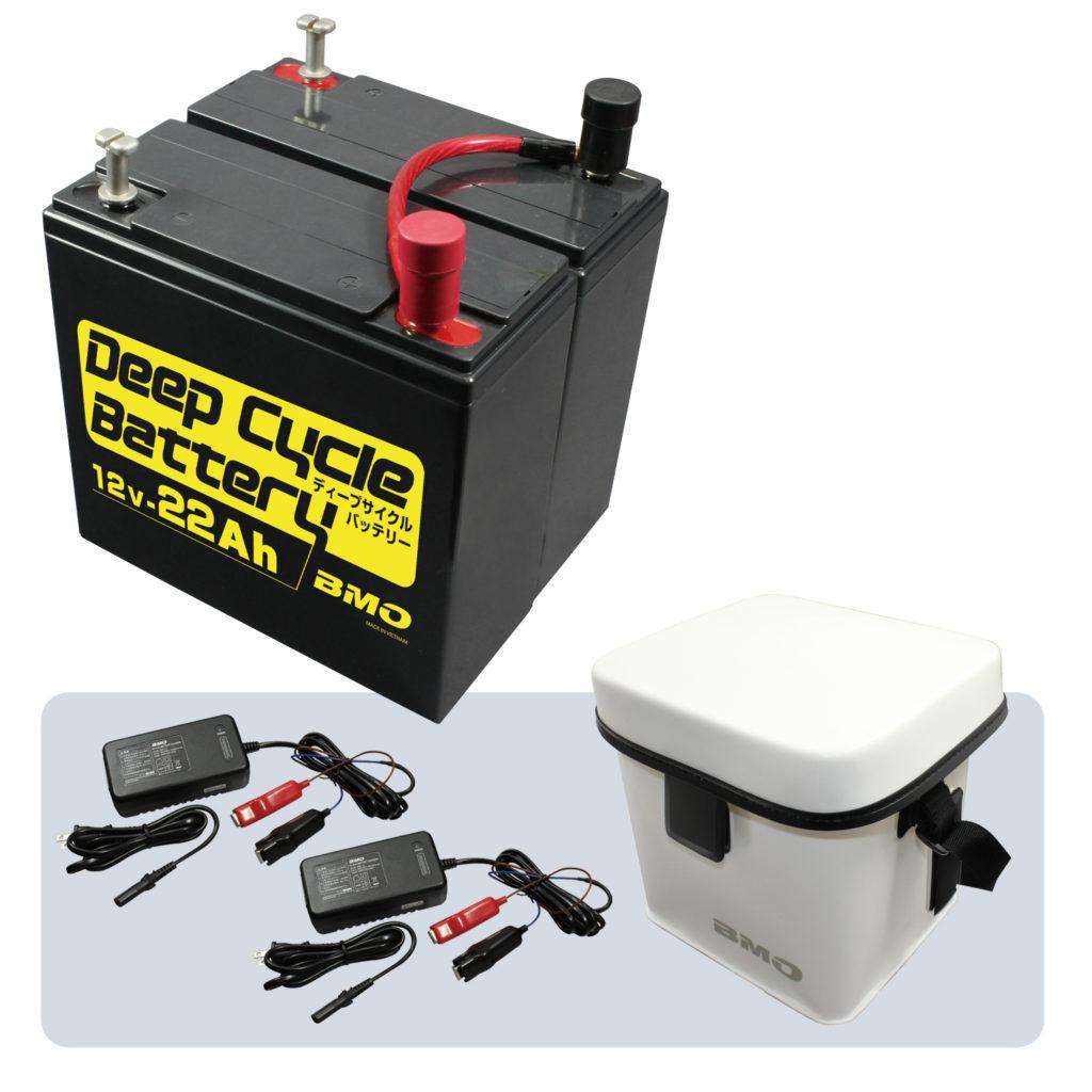 ディープサイクルバッテリー22Ah(24V仕様)のセット内容